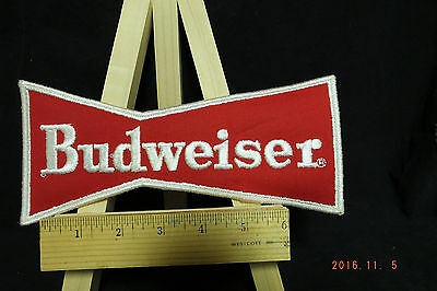 Budweiser Bud  Beer Embroidered Iron-On Patch 8.5""