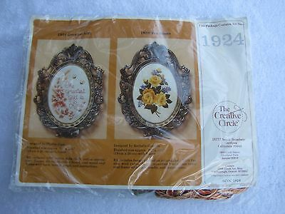 The Creative Circle 1986 Kit# 1924~Greatest Gift Including Oval Frame Nip!