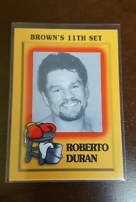 1997 Brown's Boxing CARD  11th SET ROBERTO DURAN   RARE ONLY ONE ON EBAY