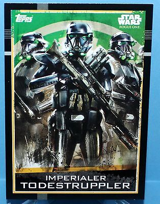 Topps Star Wars Rogue One Karte Nr.71 Imperialer Todestruppler