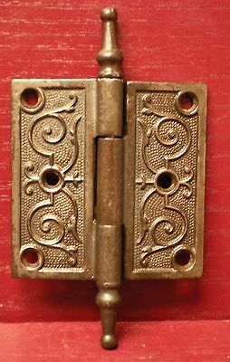 "1 Antique Fancy Cast Iron 3 ½"" X 3 ½""  Door Hinge #1"