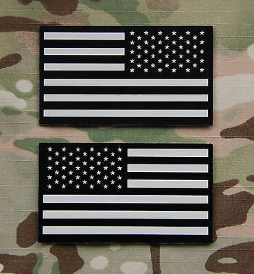 Infrared US Flag Patch Set Tan & Black Navy SEAL NSWDG US Army VELCRO® Brand