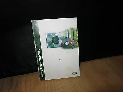 2003 Land Rover Discovery Ii 2   Owners Manual Book ( Oem )