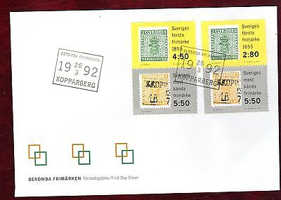 SWEDEN STAMPS-Stamp Year, set on FDC, 1992
