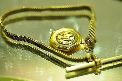 Nice design Antique gold filled Pocket Watch Chain fob 8 inch