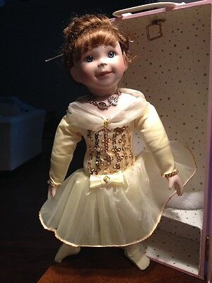 "Vintage Porcelain Ballerina Doll Signed And Numbered ""Jessie Beth"""
