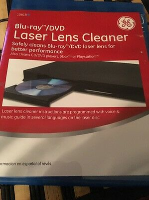 GE Bluray/DVD Laser Lens Cleaner Also For Xbox/PlayStation
