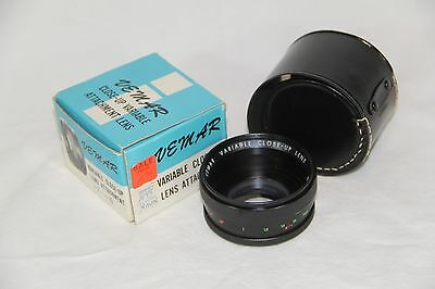 Vivitar Variable - Close - Up- Lens +1~ +10 With Case And Adapter Very Nice 52Mm