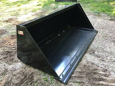 "New HD 84"" Skid Steer/Tractor Snow/Mulch 7' Bucket with Detachable Cutting Edge"