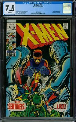 X-Men 57 CGC 7.5 - White Pages