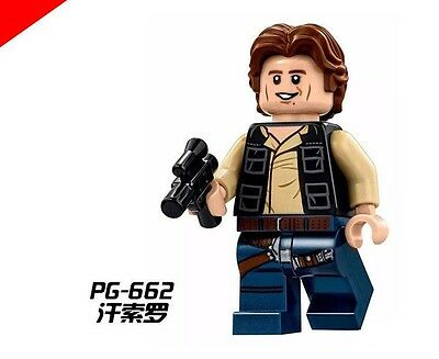 1102 Custom Star Wars Minifigures - Middle Age Adult Han Solo