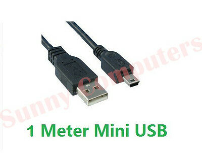 Mini USB Male to Type-A Cable Cord for MP3 GPS U-Disk HDD Data Sync Charge 3M 1M