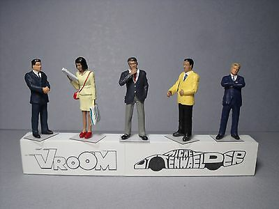 5  Figurines  1/43  Set  329  La  Salle  D'embarquement  Vroom  Unpainted