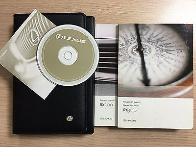 Lexus RX 300 Owners Manual & Leather Wallet With Disc