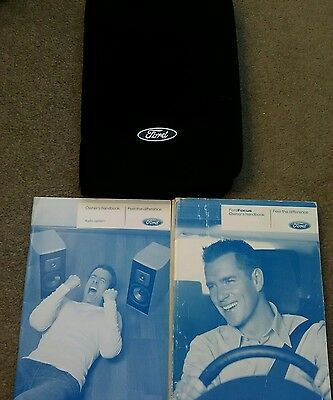 FORD FOCUS MK2  Owners Manual Handbook and wallet 2007