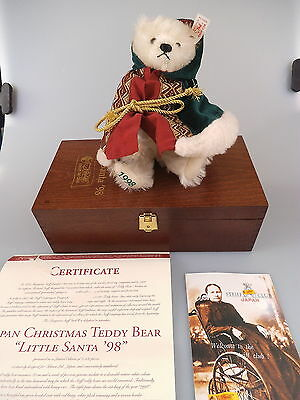 Steiff Teddy Little Santa 1998 für Japan 652776 - limitierte Auflage in OVP
