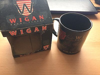 Vintage Wigan Rugby League RLFC (Warriors) Mug - Grand Slam 1995 - Signed - NEW