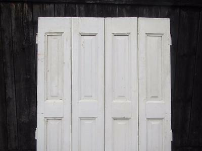 VINTAGE WOODEN FRENCH SHUTTERS  WINDOW SHUTTERS SHABBY PINE Bi Fold CLADDING