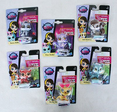 Pack 5 LITTLEST PET SHOP (BINGO, DASH, McKIE, STRIPES...). BRAND NEW IN BLISTER!