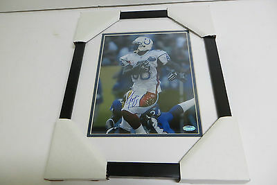 Marvin Harrison Colts Signed Framed 8x10 Photo with Steiner COA
