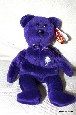 Princess Diana Ty  Beanie Baby - Made In Indonesia, Pe Pellets No Space