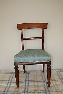 Antique Chairs, Regency circa 1820 set of six. Excellent condition.