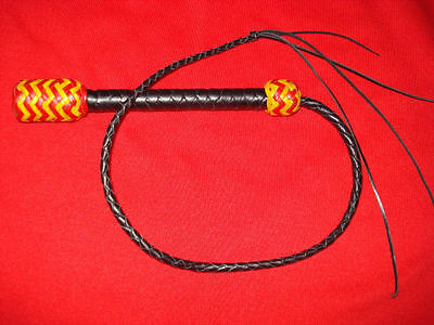 Horrible 2Ft Malaysian Terror Whip In Leather