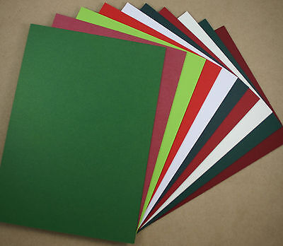 Cardmakers CHRISTMAS MEGA PACK A4 Cardstock Red Green Card (20)