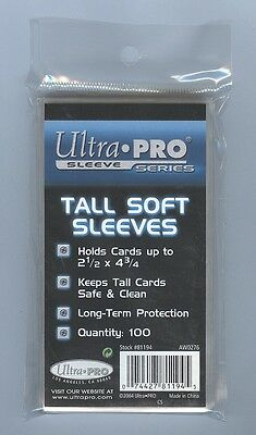 Ultra Pro Tall Card Sleeves - 100ct Pack
