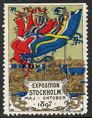 Stockholm Exposition Mint Unmounted Commemorative 1897