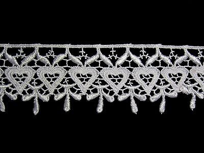 """Lily 0.5/"""" White Daisy Flower Venice Lace Trim Floral Sewing Notions By Yardage"""