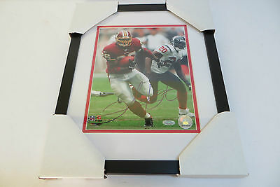 Clinton Portis Washington Redskins Signed Framed 8x10 Photo with Steiner COA
