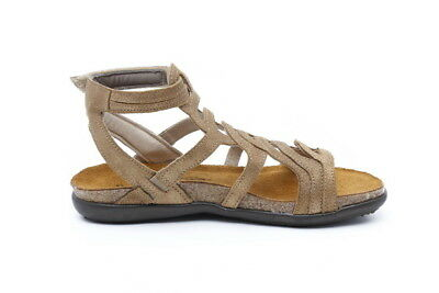 580af80b11a8 Naot Sara Women Shoes Sandals Leather Wedge Flat Gladiator Strappy Straps  New