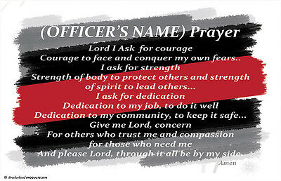 Personalized Fire Fighter's Prayer Two 11x17 Posters