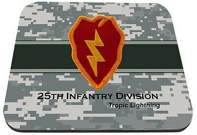 US Army 25th Infantry Division Tropic Lightning Mouse Pad
