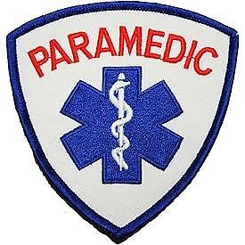 Paramedic Shoulder 3.5 Inch Patch In Blue