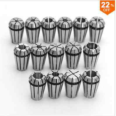 15pcs ER11 1-7mm Spring Collet Set for CNC Milling Lathe Tool