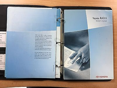 Toyota RAV4 Owners Manual & Welcome Pack