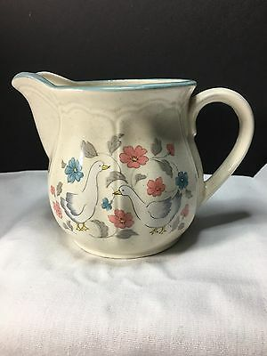 Creamer Geese Goose Action China Country Classics Made In Japan Floral Vintage