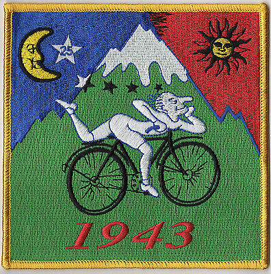 blotter art IRON ON PATCH ALBERT HOFMANN BICYCLE RIDE // #psychedelic #goa