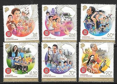 Singapore 2015 50 Years Of Independence Mnh