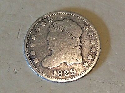 1829 US silver 5 cents