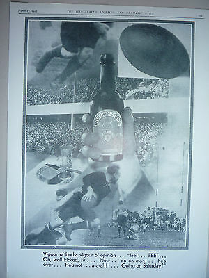 """Rugby. """" Advert For Worthington Pale Ale """" 1928."""