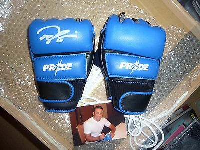 OFFICIAL PRIDE FC v1 Whitebolts MMA GLOVES Autographed Renzo Gracie Signed UFC