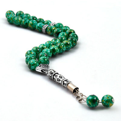 Green prayer beads / worry beads /Tasbeeh / Tasbih / Masbaha / Rosary