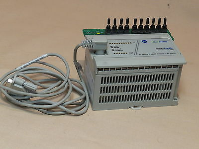 Allen Bradley Plc  Type Micrologix1000. Used. Input Sim Switches And Prog Cable