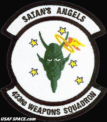 USAF 433rd WEAPONS SQUADRON - Nellis AFB, NV - ORIGINAL AIR FORCE VEL PATCH