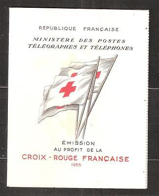 Carnet  Croix  Rouge  Neuf  **    Annee  1955  Complet Et Superbe