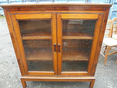 Antique oak and mahogany banded Edwardian bookcase