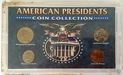 American Presidents Coin Collection Washington Jefferson Roosevelt Lincoln